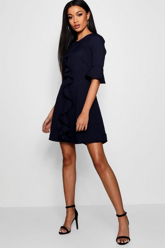 Womens Frill Detail Dress