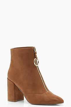 O Ring Pull Suedette Shoe Boots