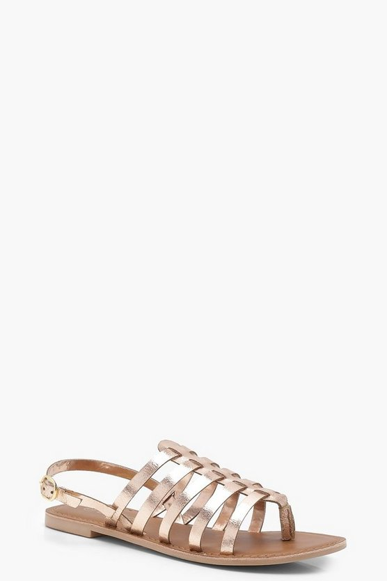 Strappy Gladiator Leather Sandals