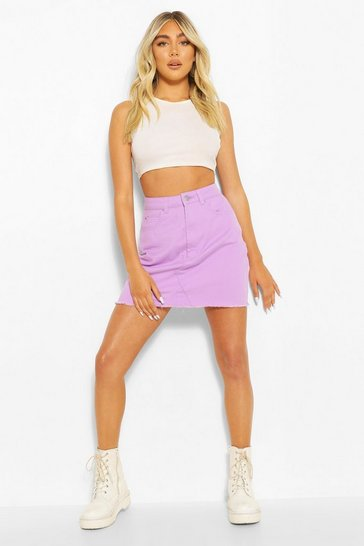 Lilac Denim Mini Skirt