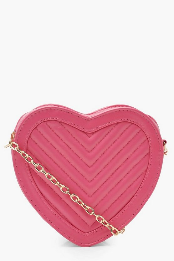 Quilted Heart Cross Body Bag