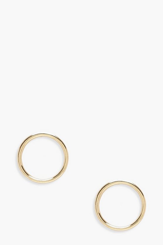 Ivy Stud Hoop Earrings