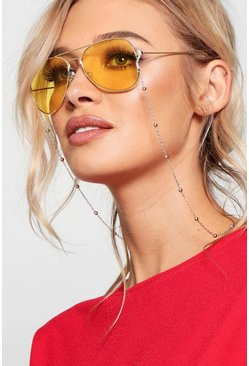 Womens Yellow Coloured lens Aviator Sunglasses