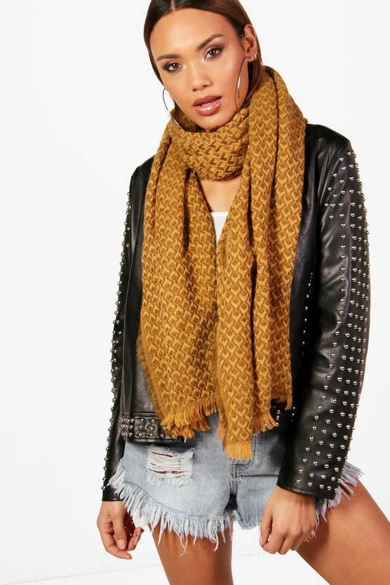 Kelsey Patterned Oversized Scarf