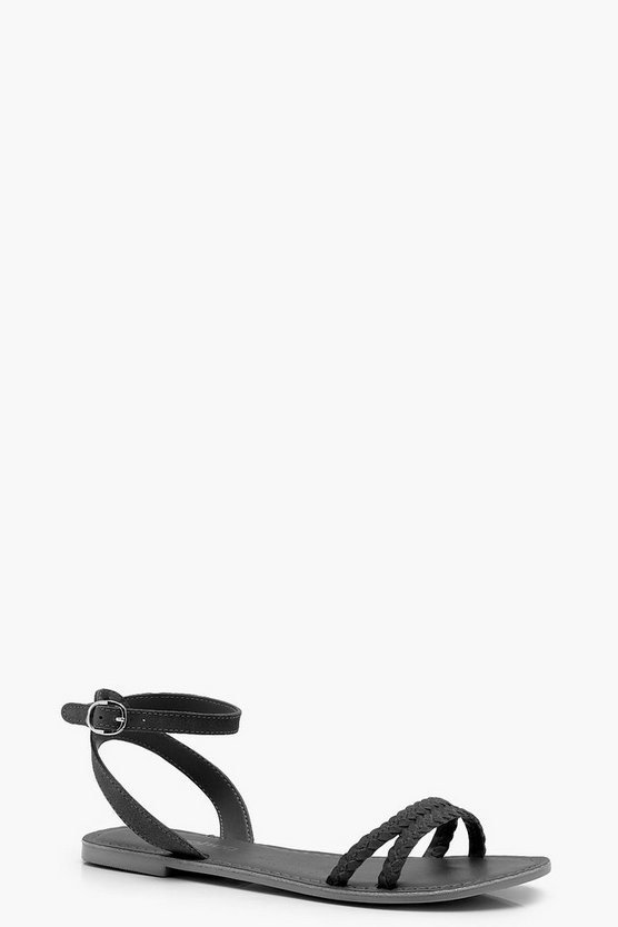 Willow 2 Part Plaited Suede Sandals