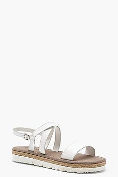 Espadrille Cleated Leather Sandals