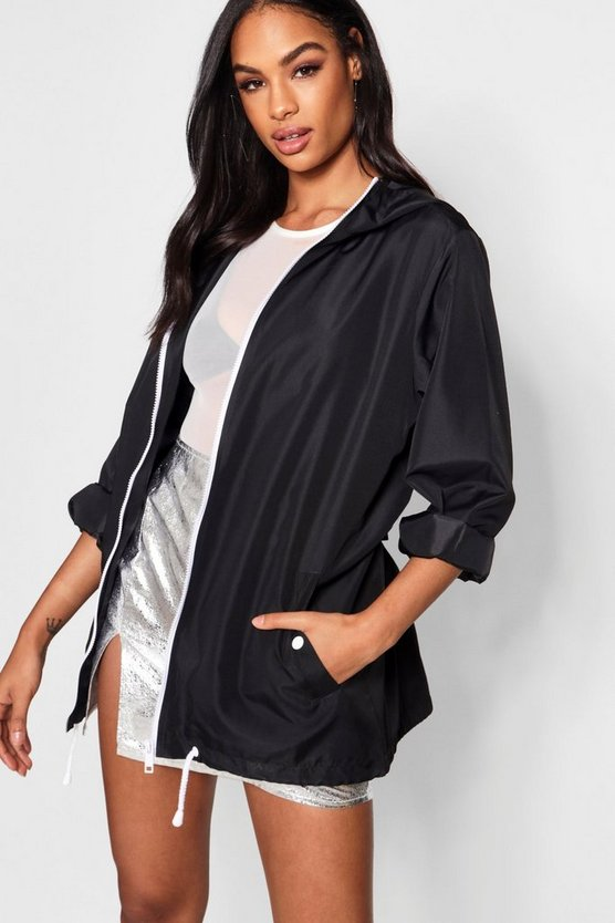 Womens Black Oversized Sports Jacket