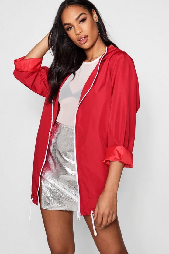 Womens Red Oversized Sports Jacket