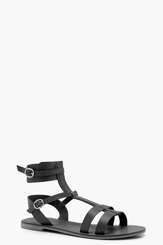 Wide Fit Multi Strap Gladiator Sandals