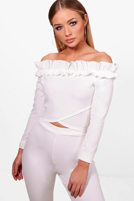 Rena Ruffle Wrap Crop Top