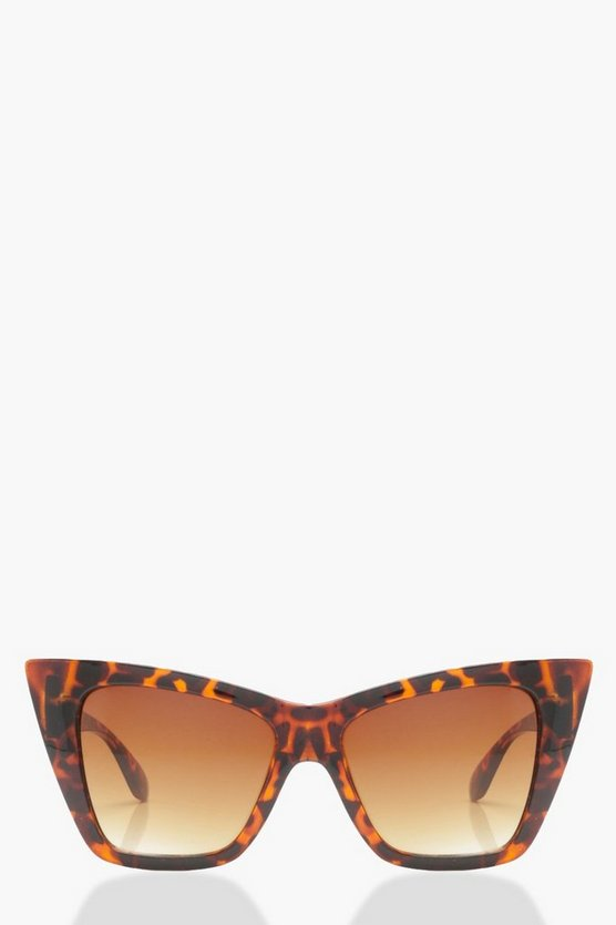 Oversized Tortoiseshell Cat Eye