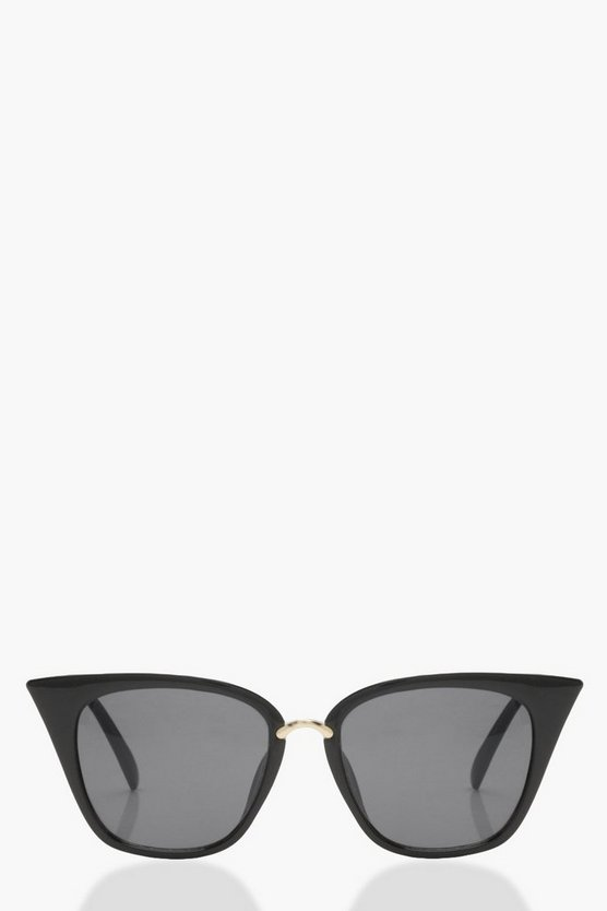 Black Square Cat Eye Sunglasses