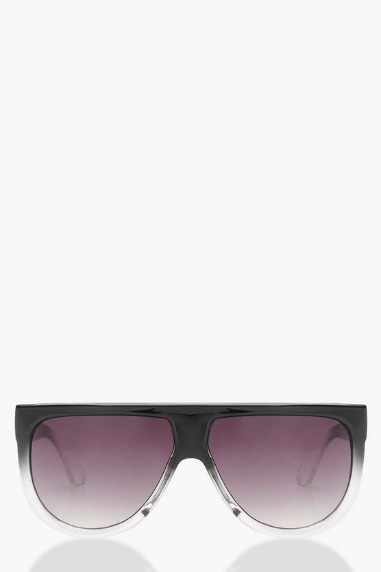 Faded Oversized Visor Sunglasses