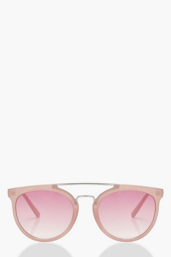 Pink Retro Frame Sunglasses