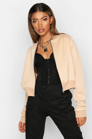 Womens Stone Crop Bomber Jacket