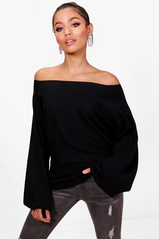 Charlotte Oversized Off The Shoulder Jumper