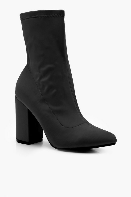 Stretch Pointed Toe Sock Boots