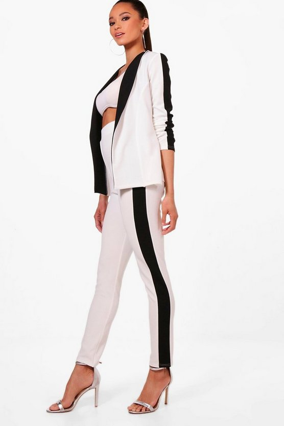 Contrast Side Stripe Skinny Trouser