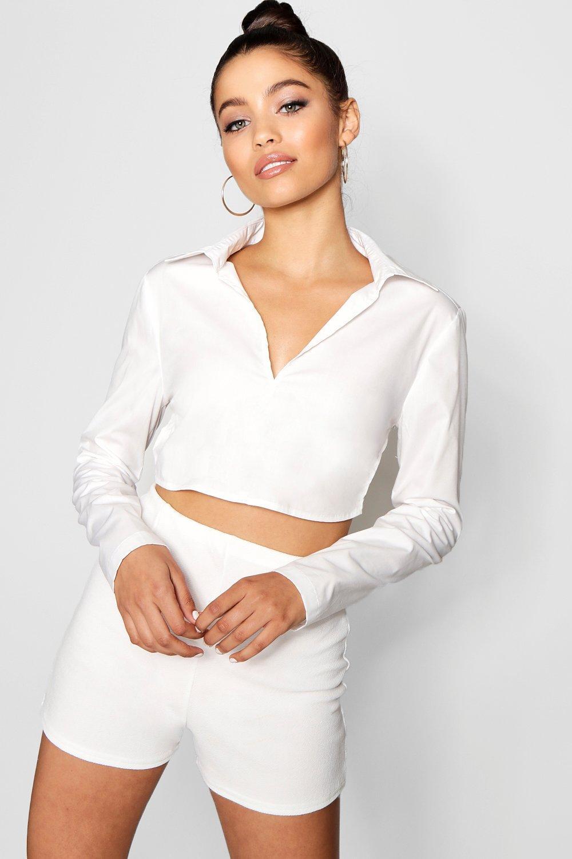 Boohoo-Womens-Buckle-Strap-Open-Back-Shirt