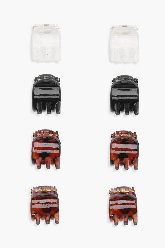 Womens Multi Leah Mini Hair Clip 8 Pack