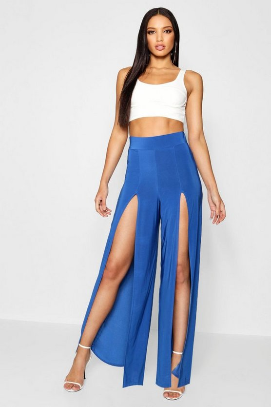Slinky Extreme Split Wide Leg Pants