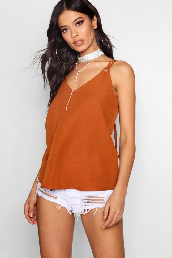 Rope Strap Tassel Woven Cami