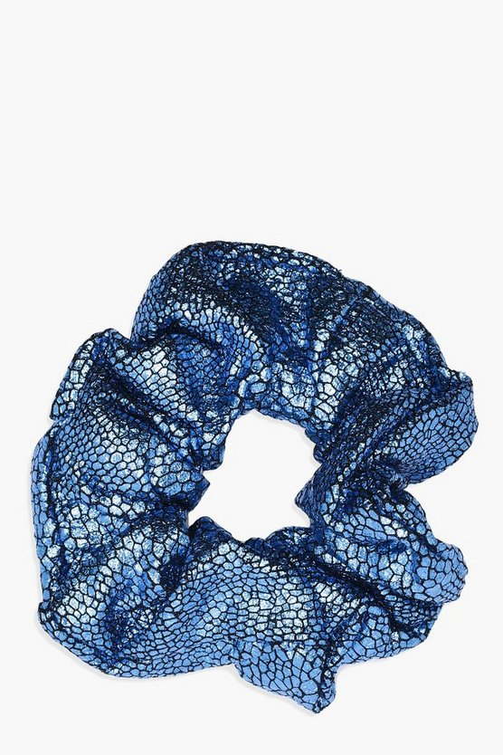 Hannah Metallic Foil Scrunchie