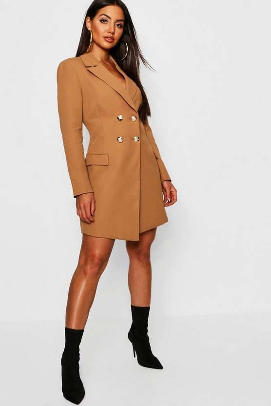 Double Breasted Tailored Blazer Dress