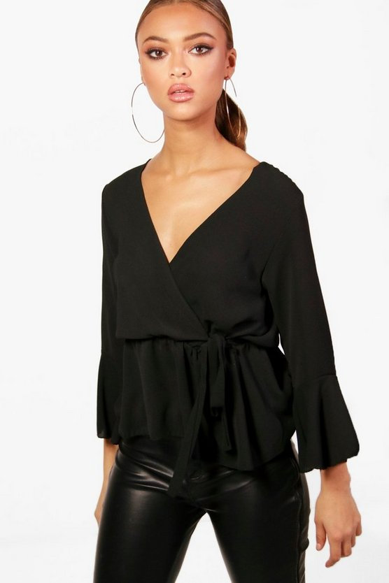 Wrap Over Tie Blouse