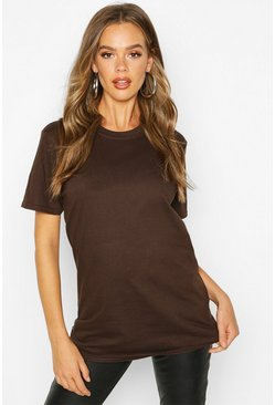 Chocolate Basic Oversized Boyfriend T-shirt