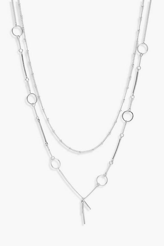 Emma Layered Circle Detail Necklace