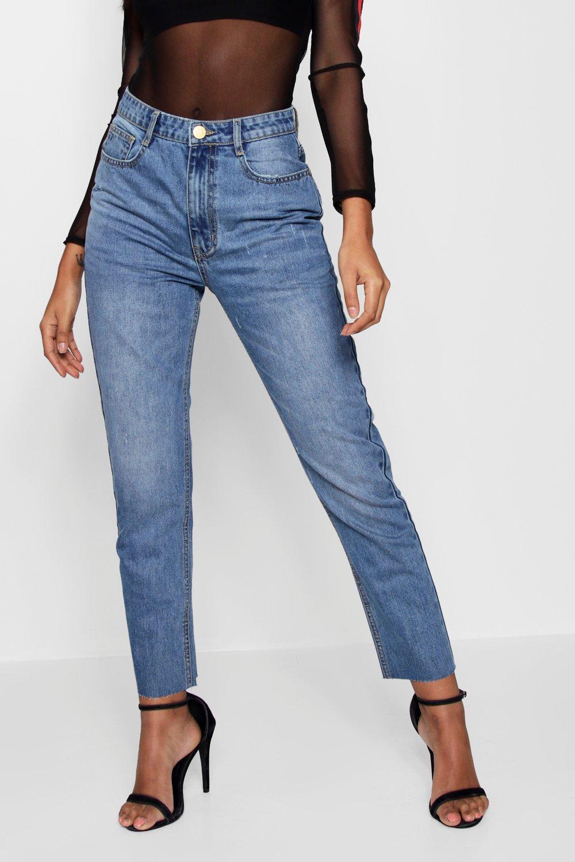 de medio estilo mom cintura alta azul Jeans qxvagE6Un