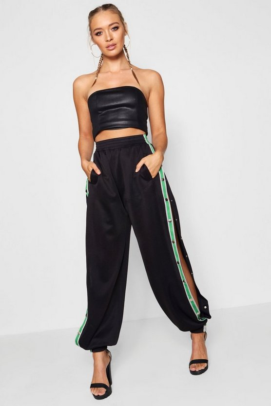 Sports Tape Popper Side Trousers