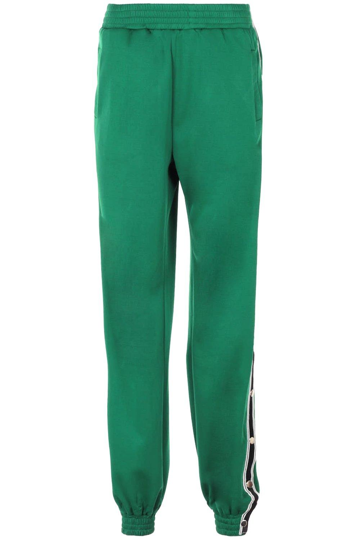 verde Pantalones laterales con de corchetes con deportivo nqazpP