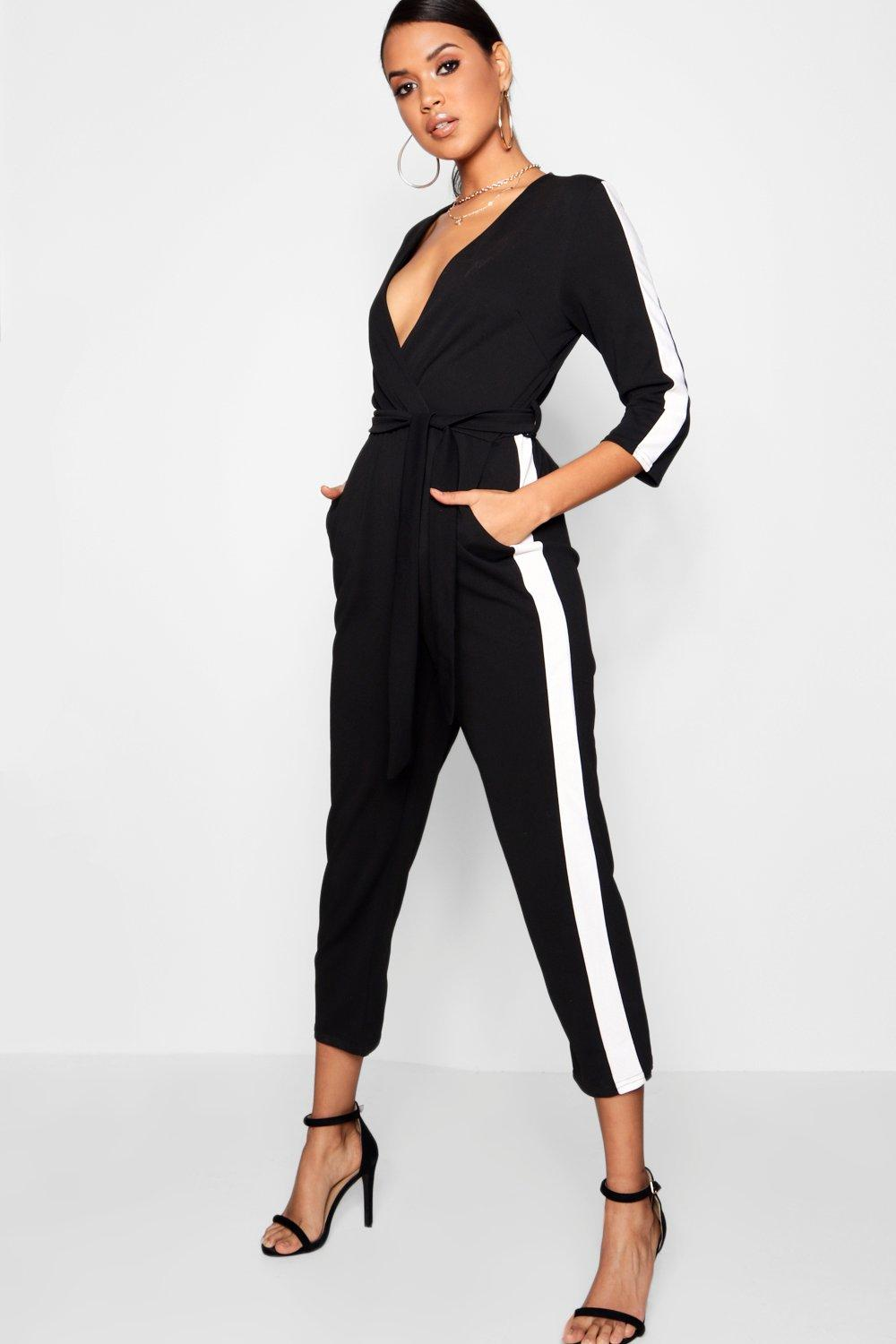 3f9426f6e9d1 Stripe Side Jumpsuit. Hover to zoom