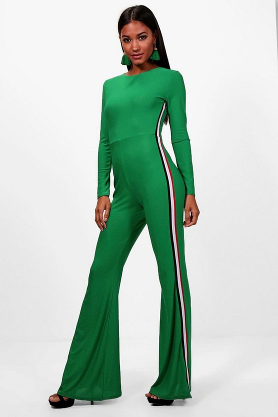 Sports Stripe Wide Leg Jumpsuit