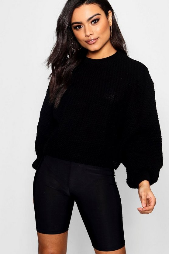 Oversized Wide Sleeve Crop Jumper