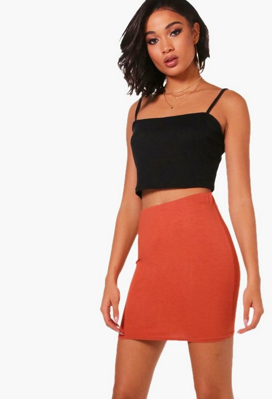 Ashley Basic Jersey Micro Mini Skirt