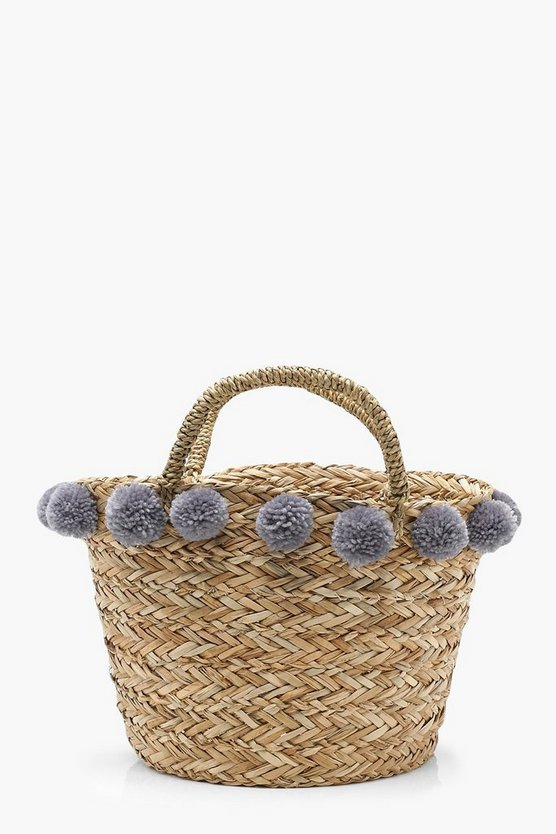 Kerry Medium Pom Pom Basket Bag