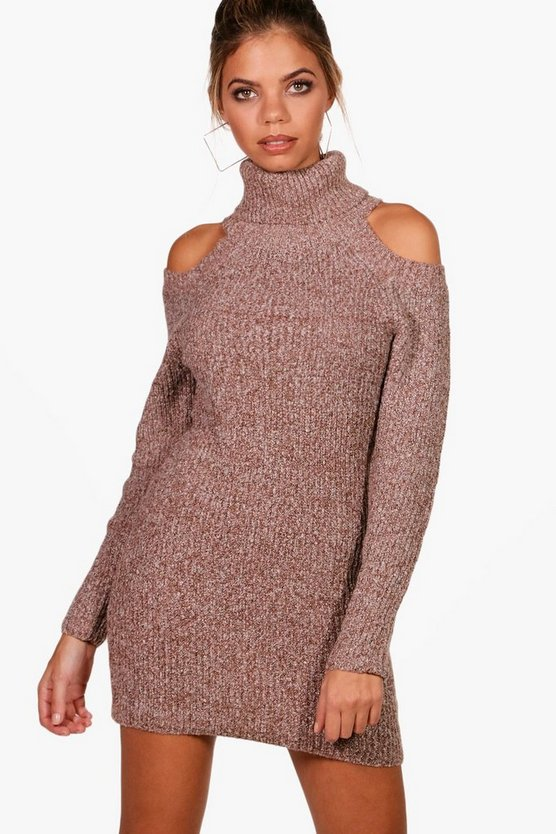 Lucy Cold Shoulder Knitted Dress