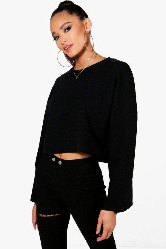 Wide Sleeve Crop Jumper