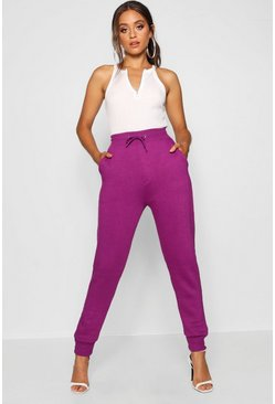 Womens Purple Basic Sweat Joggers