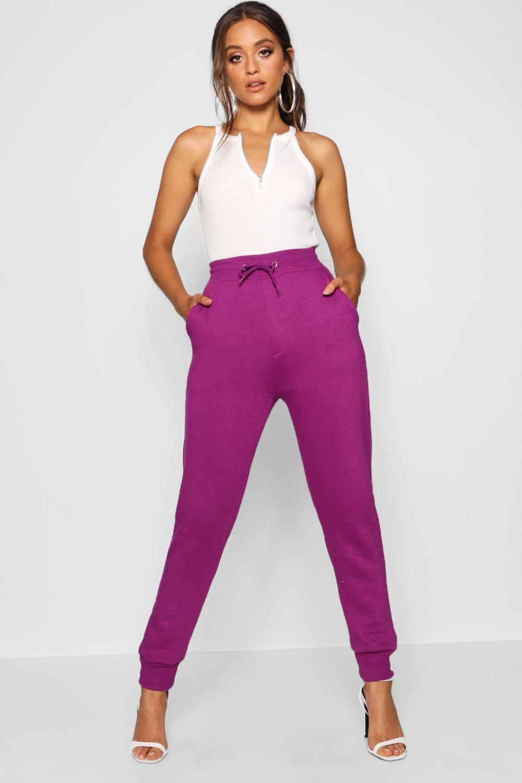 Pantalones chándal de deporte básicos de purple ZqgZ8zn