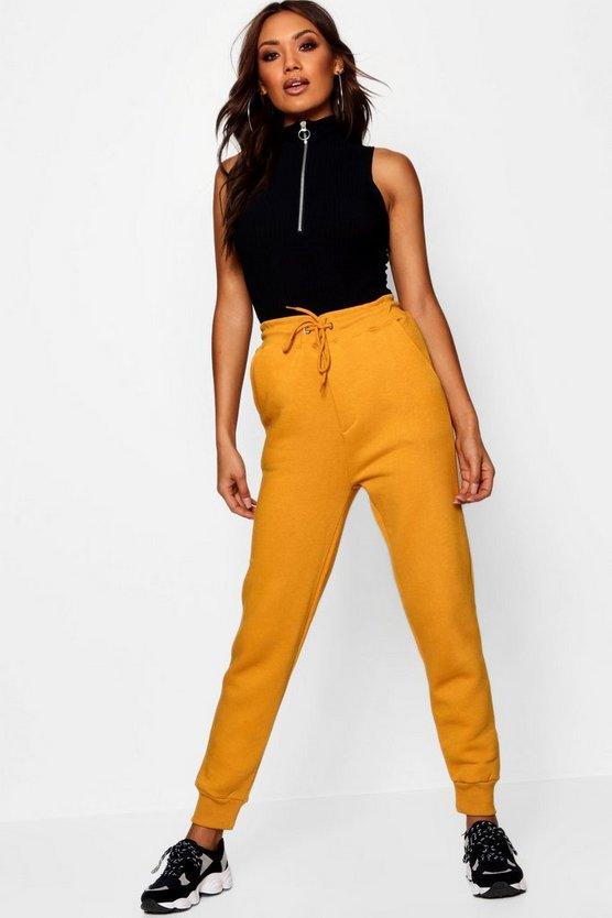 Womens Desert yellow Basic Sweat Joggers