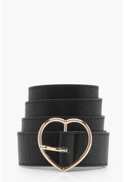 Black Heart Buckle Boyfriend Belt