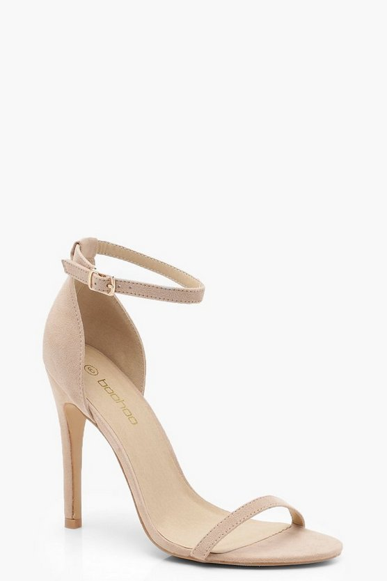 Womens Nude 2 Part Heels