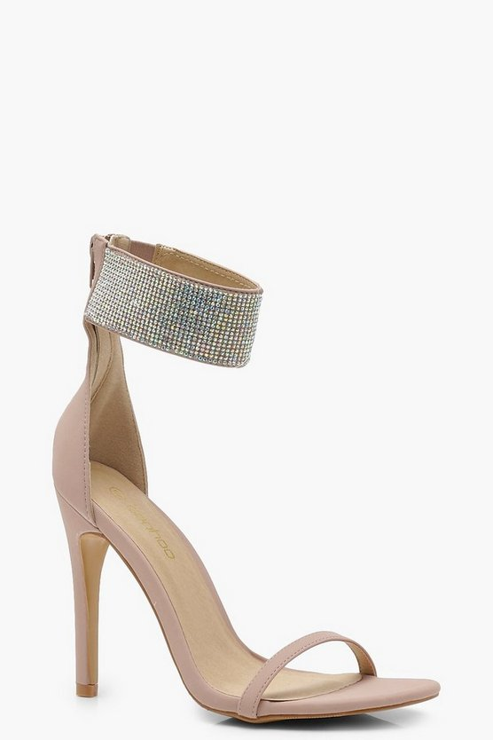 Diamante Cuff 2 Part Heels