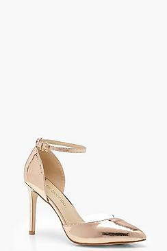 Rose Wide Fit Clear Panel Court Shoes