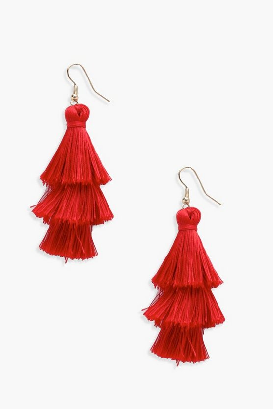 Poppy 3 Tier Tassel Earrings