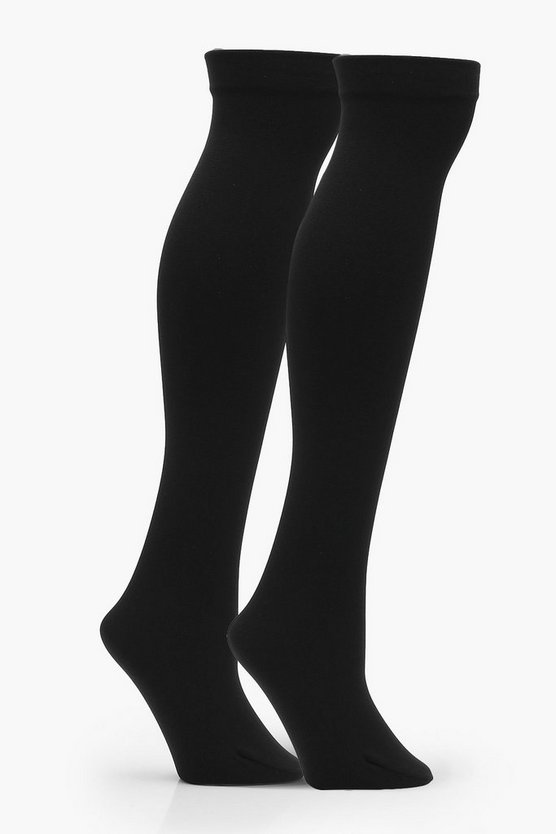 Mia 2 Pack Thermal Knee High Socks